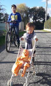 Promenade avec bébé à Villeneuve-Tolosane